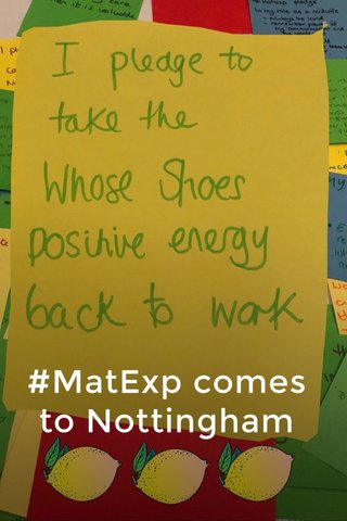 #MatExp comes to Nottingham