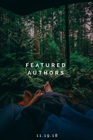 FEATURED AUTHORS 11.19.18