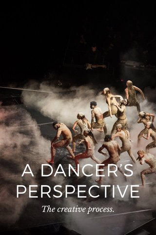 A DANCER'S PERSPECTIVE The creative process.