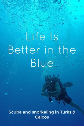 Life Is Better in the Blue Scuba and snorkeling in Turks & Caicos