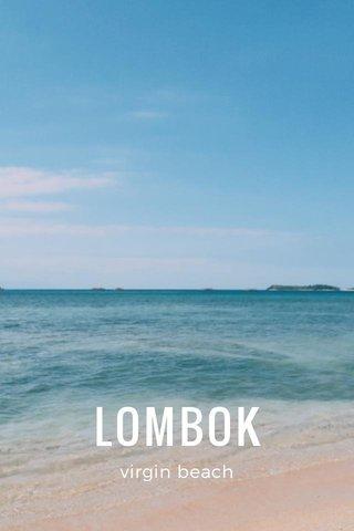 LOMBOK virgin beach