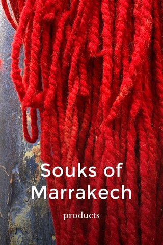 Souks of Marrakech products