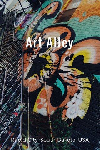 Art Alley Rapid City, South Dakota, USA