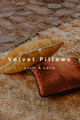 Velvet Pillows Laith & Leila