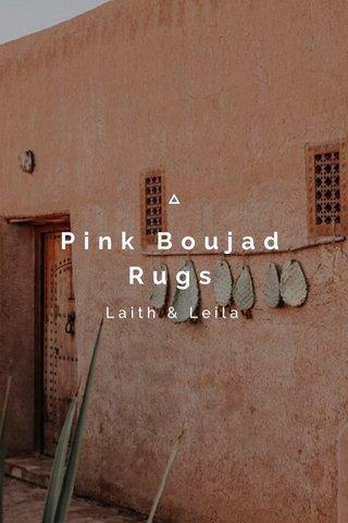 Pink Boujad Rugs Laith & Leila