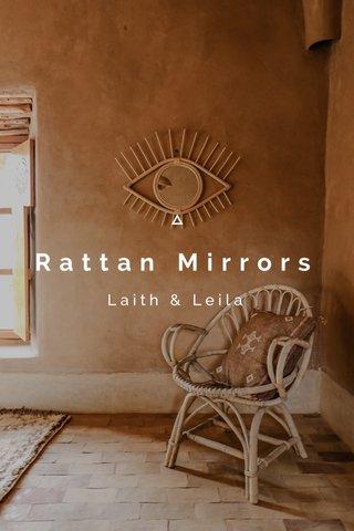 Rattan Mirrors Laith & Leila