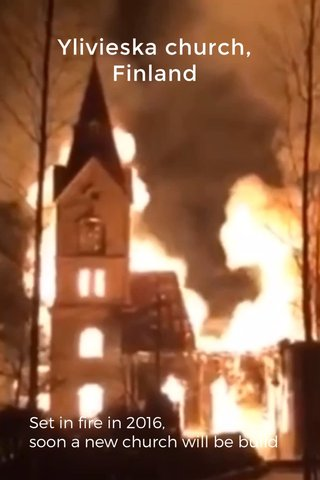 Ylivieska church, Finland Set in fire in 2016, soon a new church will be build