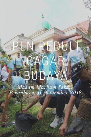 PLN PEDULI CAGAR BUDAYA Makam Marhum Pekan Pekanbaru, 16 November 2018
