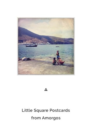 Little Square Postcards from Amorgos