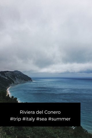Riviera del Conero #trip #italy #sea #summer