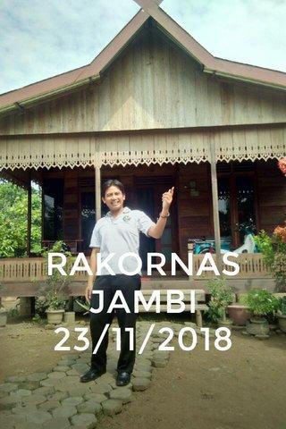 RAKORNAS JAMBI 23/11/2018
