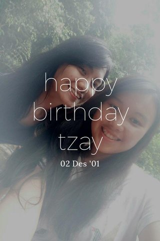 happy birthday tzay 02 Des '01