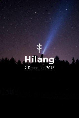 Hilang 2 Desember 2018