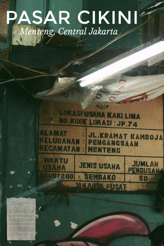 PASAR CIKINI Menteng, Central Jakarta