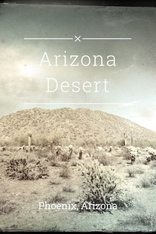 Arizona Desert Phoenix, Arizona