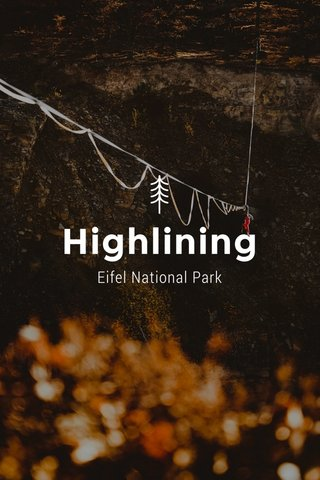 Highlining Eifel National Park