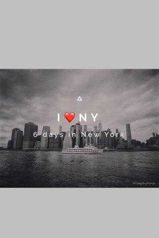 I❤️NY 6 days in New York