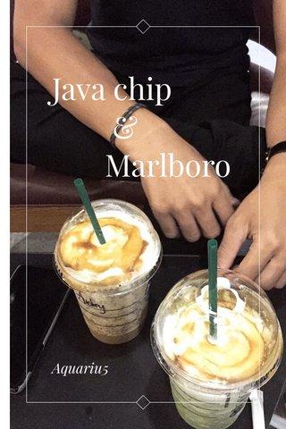 Java chip & Marlboro Aquariu5