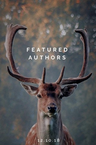 FEATURED AUTHORS 12.10.18