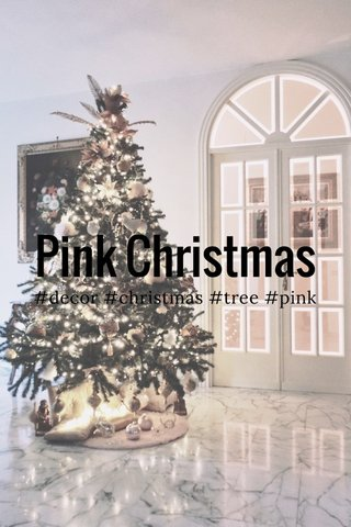 Pink Christmas #decor #christmas #tree #pink