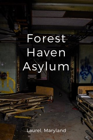 Forest Haven Asylum Laurel, Maryland
