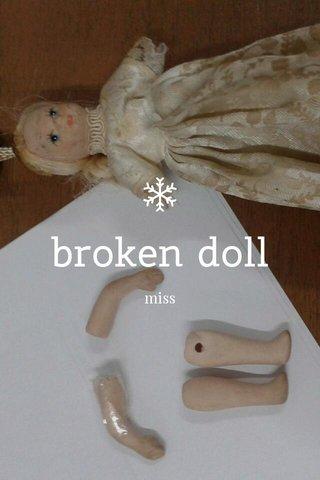 broken doll miss