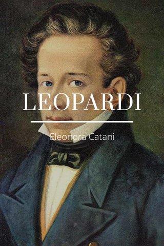 LEOPARDI Eleonora Catani