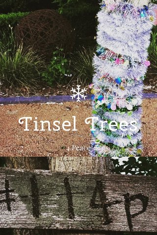 Tinsel Trees 4 Peace