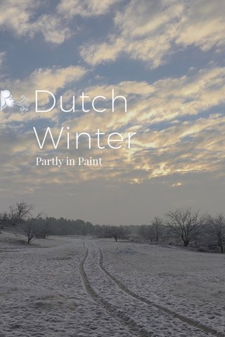 🌬Dutch Winter Partly in Paint