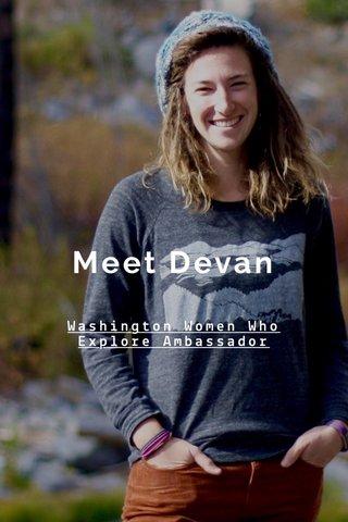 Meet Devan Washington Women Who Explore Ambassador