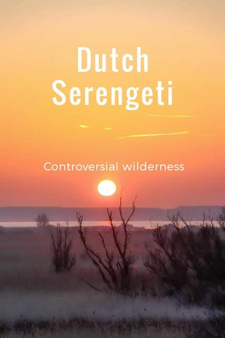 Dutch Serengeti Controversial wilderness