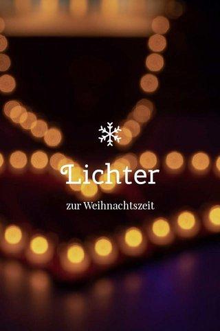 Lichter zur Weihnachtszeit