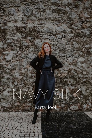 NAVY SILK Party look