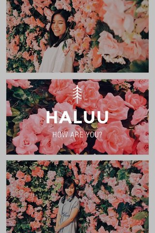 HALUU HOW ARE YOU?