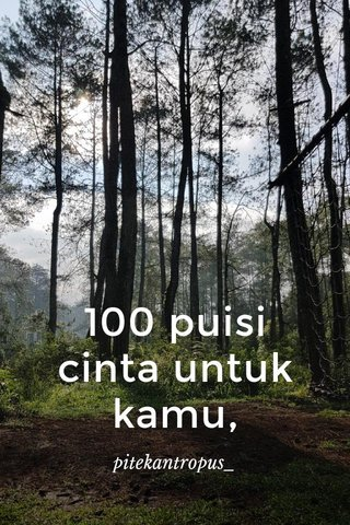 100 puisi cinta untuk kamu, pitekantropus_