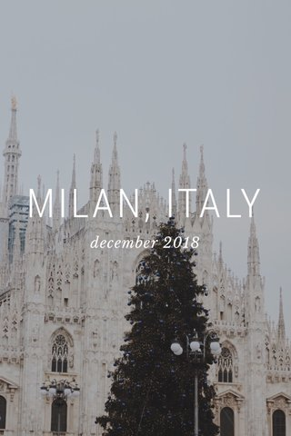 MILAN, ITALY december 2018