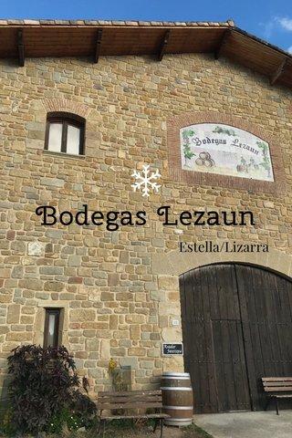 Bodegas Lezaun Estella/Lizarra