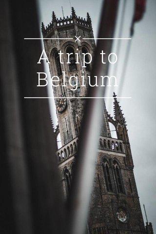 A trip to Belgium