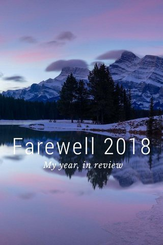 Farewell 2018 My year, in review