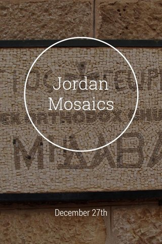 Jordan Mosaics December 27th