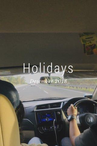 Holidays Desember 2018