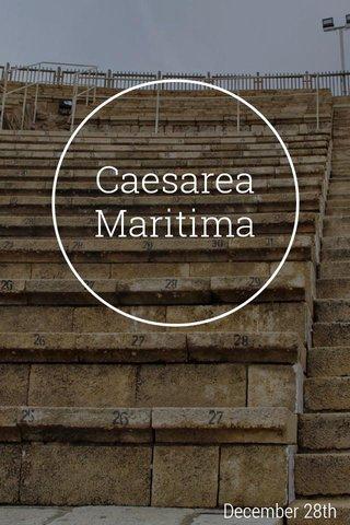 Caesarea Maritima December 28th