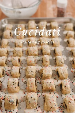Cucidati Italian fig cookies