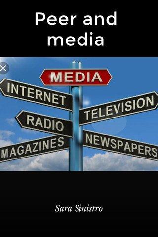 Peer and media Sara Sinistro