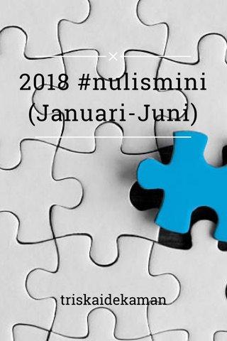2018 #nulismini (Januari-Juni) triskaidekaman