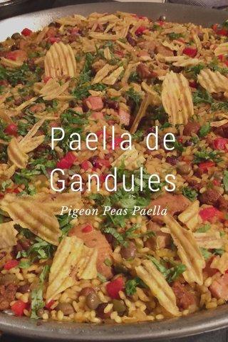 Paella de Gandules Pigeon Peas Paella