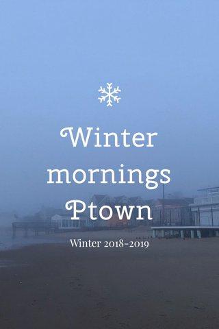 Winter mornings Ptown Winter 2018-2019