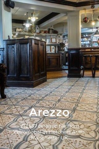 Arezzo VT2537 ceramic tile from Vetroglobal at Fletchers Arms, Manchester UK