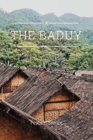 THE BADUY Peace in Silence