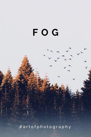 FOG #artofphotography
